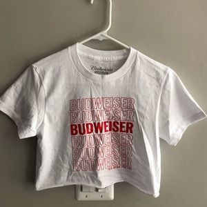 Budweiser Crop Top NWOT Sz Medium